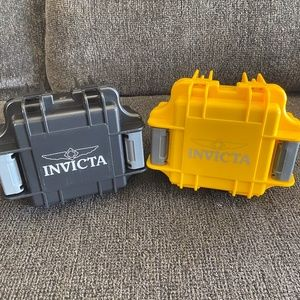 Invicta Set of 2 1-Slot Dive Case Black and Yellow